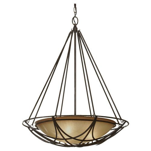 Feiss F2607/3MBZ 3-Bulb Chandelier, Mocha Bronze Finish by -