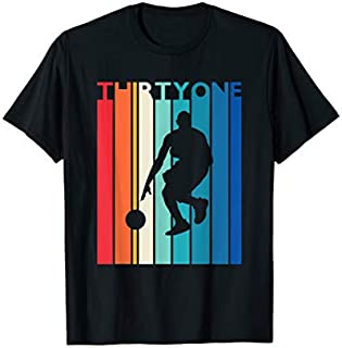 31st Birthday Gift Vintage Basketball  for 31 Year Old T-shirt | Size S - 5XL