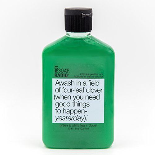 Aromatherapy Body Wash - Green Tea, White Tea & Clover - Intensive Positive Luck Formula - 13.6oz