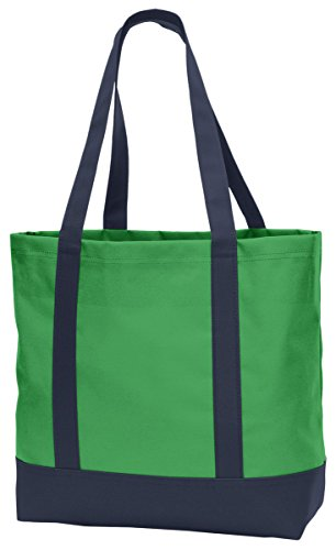 Port Authority Day Tote. BG406 Classic Green/ Navy One (Canvas Tote Bag Green)