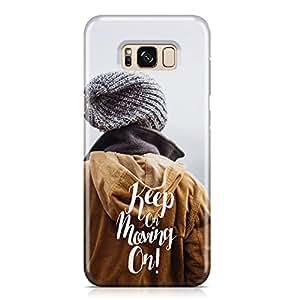 Samsung S8 Case keep on moving on Transparet edges Plastc Aluminium Samsung Samsung S8 Cover Wrap Around