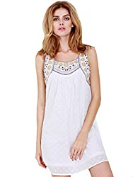 SheIn Women's Sexy Summer Spaghetti Strap Loose Tank Dress