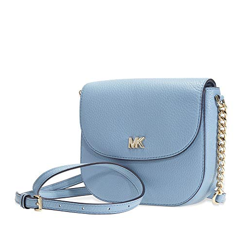 Michael Kors light blue purse | Michael Kors Mott Pebbled Leather Crossbody- Powder Blue