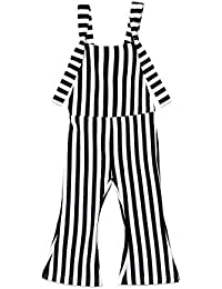 e20afc8cee5 Baby Girls Kids Suspender Overall Jumpsuit Romper Bell-Buttom Pants