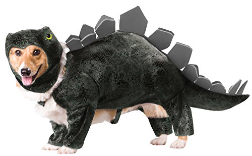 UHC Stegosaurus Dinosaur Funny Theme Halloween Animal Planet Pet Dog Costume, M (Funny Halloween Pet Costumes)