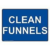 ComplianceSigns Vinyl Clean Funnels Labels, 5 x 3.50 - Best Reviews Guide