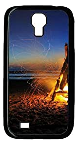 Beach Bonfire PC Case Cover for Samsung Galaxy S4 and Samsung Galaxy I9500 Black