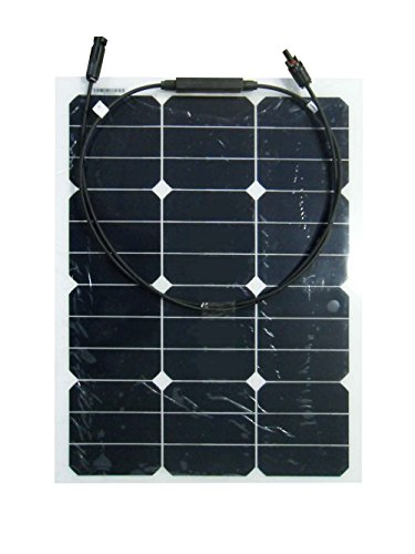40W 18V 12V Sunpower Semi Flexible Thin Lightweight Solar Panel Charger with MC4 Connector for RV,Boat,Cabin,Tent,Yacht,Car,Off-Grid Applications