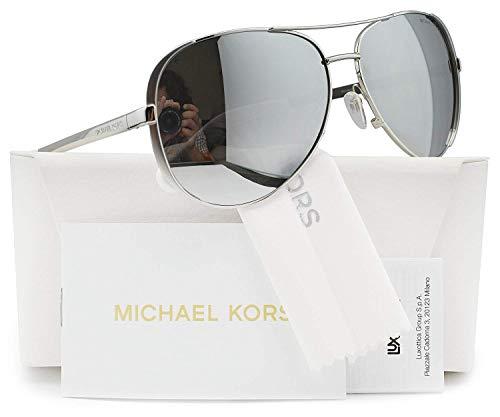 a97ca001c131 Michael Kors MK5004 Chelsea Polarized Sunglasses Silver w/Silver Mirror