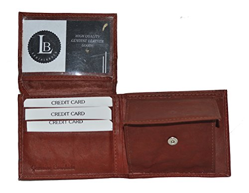 ap Id and Coin Pocket Bifold Wallet (Brown) (Flap Pocket Wallet)