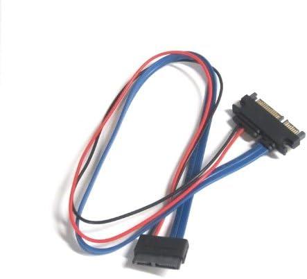 20 Inches Slimline 13 pin SATA Female to 22 Pin SATA Male Cable Adapter