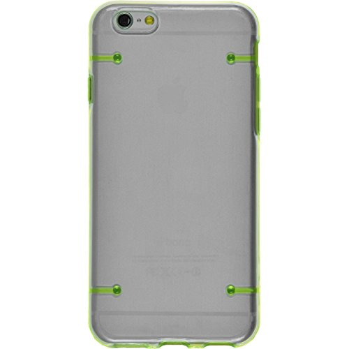PhoneNatic Case für Apple iPhone 6 Plus / 6s Plus Hülle grün transparent Hard-case für iPhone 6 Plus / 6s Plus + 2 Schutzfolien