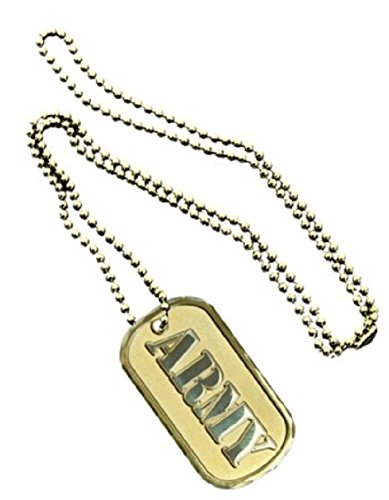 United States Armed Forces Division Army Name Dual Tone Logo Symbols - ALL Metal Military Dog Tag Luggage Tag Key Chain Metal Chain Necklace
