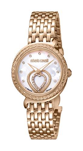 ROBERTO CAVALLI Women's RC-66 Swiss Quartz Watch with Stainless Steel Strap, Rose, 22 (Model: RV2L028M0236)