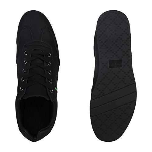 Schwarz Sneaker Herren Stiefelparadies Übergrößen Flandell Schwarz Low Weiss qXw16