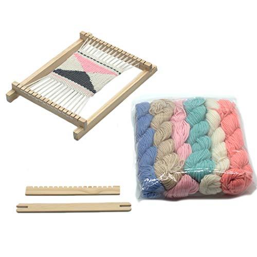 Baosity Wooden Shuttles Knitting Sticks Tools for Crafts DIY Loom Machine Accessory Handicrafts Tools Supply 155x23x4mm