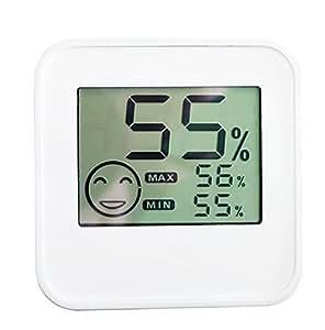CCOWAY Termómetro digital higrómetro con sensor de temperatura y humedad y gran pantalla LCD para el hogar / pared / escritorio / interior / al aire libre