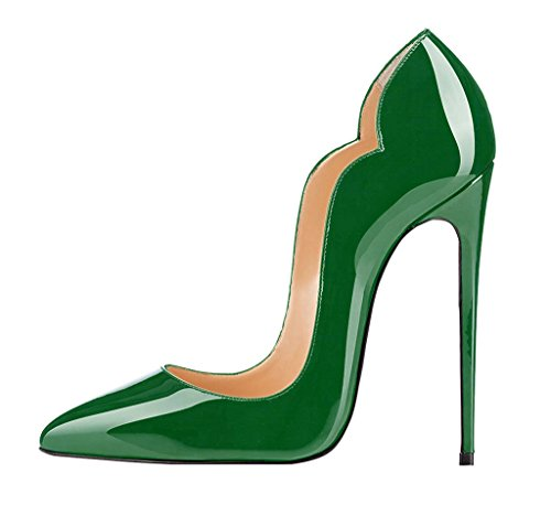 Classic A 12cm Heels Eldof Pumps Donne Toe Stiletto Elegante A Tacchi Green Court Pointed Di Classiche Scarpe Scarpe Out Spillo Women Shoes Corte Alti Tagliata Verde Elegante Pompe 12cm High Punta Eldof Cut wE6Z1w
