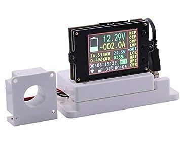 Watt Voltmeter Batterietester Amperemeter 60 V 48 V Zeitmesser 80 V Strom Kapazit/ät 12 V 0-90 V 100 A LCD-Halle-Sensor 24 V CPTDCL Digitales DC-Multimeter 30 V Spannung Volt