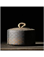 Ceramic Tea Jar Storage Jars Tea Tins Cans Canister Traditional Tea Caddy Japanese Ceramic Tea Caddies Vintage Porcelain Tea Canister Storage Tea Or Food,Ceramic Tea Canister