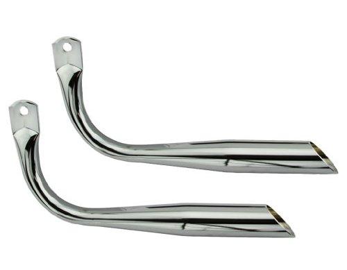Muffler Oblique W/O Holes Chrome. Bike mufflers, bicycle mufflers, for lowrider , beach cruiser, chopper, limo, stretch bike ()
