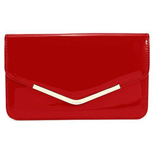 Enveloppe Rouge main sac à sac pochette rwBpAxXqr