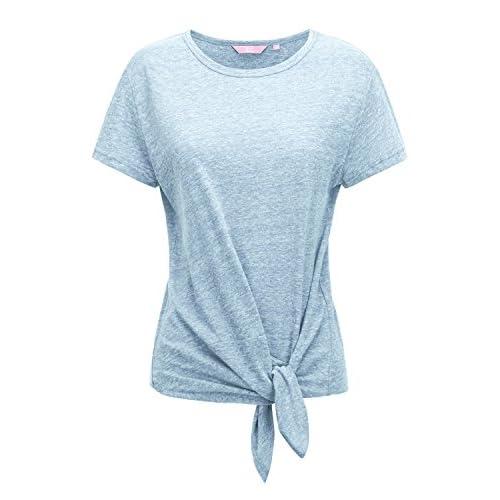 3ef86e24ca7 Regna X Short Sleeve Round Neck Cotton Tri-Blend Summer T-Shirt Top ...