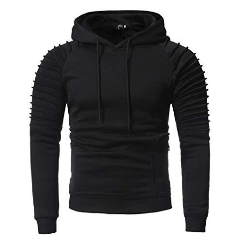 Jumper Mens New Smoke (Amiley mens hoodies,New Men's Creative Pullover Premium Lightweight Casual Hooded Sweatshirt (Large, Black))