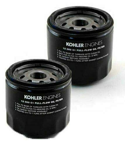 (Kohler 12 050 01-S Oil Filter (Pack of 2))