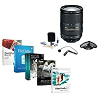 Nikon 18-300mm f/3.5-5.6G ED IF AF-S DX VR II Lens Bundle. USA. Value Kit w/Acc