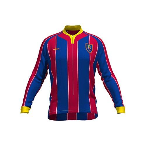 MLS Real Salt Lake Women's Original Striped Long Sleeve Cycling Jersey, X-Large, Blue (Best Bike Shop Salt Lake City)