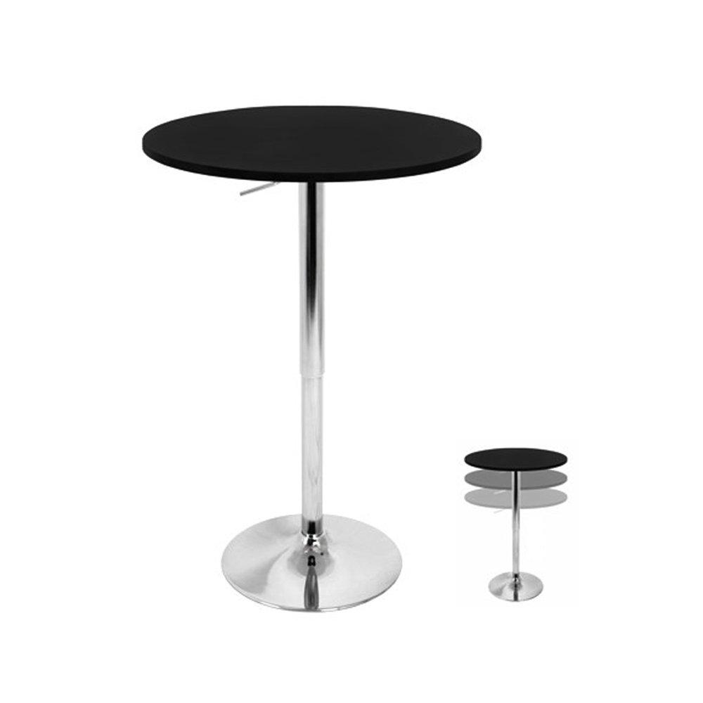 Amazon.com: WOYBR BT ADJ23TW BK Mdf, Chrome Table Top Does Not Spin. Adjustable  Bar: Kitchen U0026 Dining