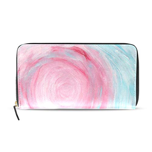 Womens Wallets Watercolor Abstract Hand Painted Leather Passport Wallet Coin Purse Girls -