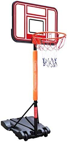 子供のバスケットボールスタンド、フレームを撮影床置き、取り外し可能なバスケットボールのフレーム、屋外の子供のバスケットボールのフレームは、昇降可能、自由に拡張可能、2.5メートル/ 3.2メートル (Color : Black red, Size : 2.5m)
