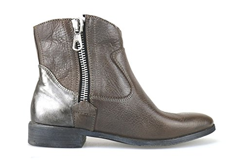 Eu gris Ak995 Cuir 40 Marron Femme Bottines Crime UWPnq0tH