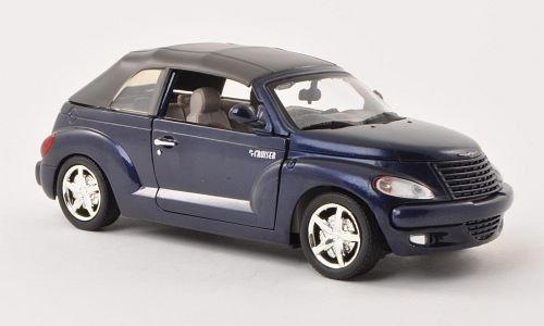 Chrysler PT Cruiser Convertible, metallic-dark blue, 0, Model Car, Ready-made, Motormax 1:24