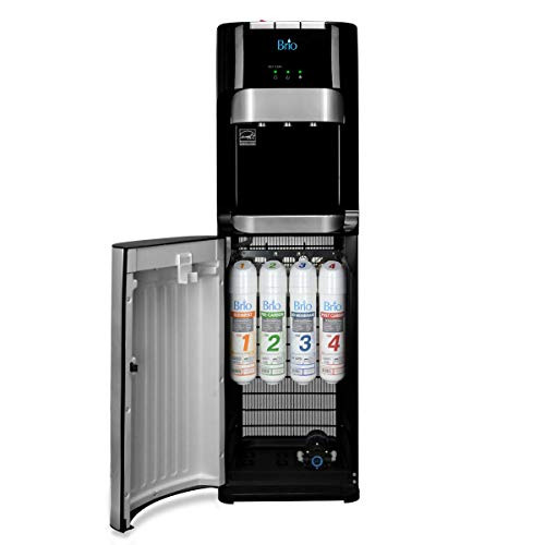 (Brio Commercial Grade Bottleless Ultra Safe Reverse Osmosis Drinking Water Filter Water Cooler Dispenser-3 Temperature Settings Hot, Cold & Room Water - UL/Energy Star Approved - Point of Use)