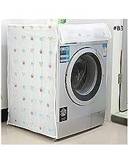 HMGANG PEVA Solskyddsmedel Dammsäker täckning Tvättmaskinskydd Vattentät Väska Tvättmaskin Skyddande Dammjacka Fram Öppna 1PC (Color : B3)