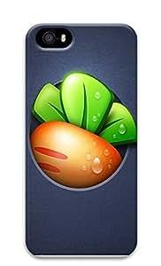 iPhone 5 5S Case Defend Radish 3D Custom iPhone 5 5S Case Cover