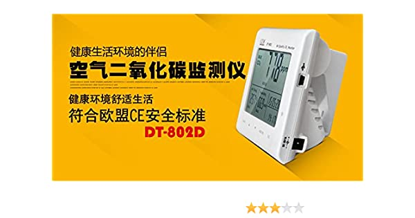 CEM Carbon Dioxide Detector CO2 Monitoring Air Quality Detector Temperature and Humidity Meter DT-802D - - Amazon.com