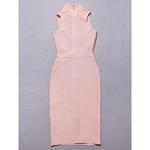 Gelb Rosa HLBCBG Kleid Damen Pink Rosa qxOOrtWF
