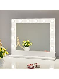 Chende White Hollywood Lighted Makeup Vanity Mirror Light, Makeup Dressing Table  Vanity Set Mirrors With