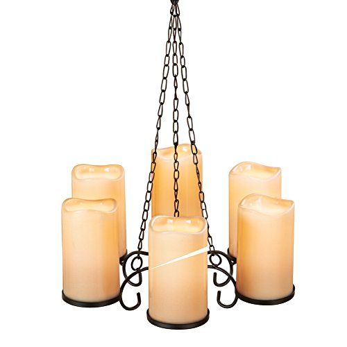 Collections Etc LED Candle Chandelier