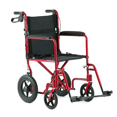 """Invacare Aluminum Transport Chair with 12 Rear Wheels"""""""