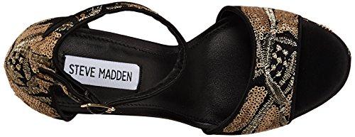 Steve Madden Women's Gonzo Platform Dress Sandal Black 1S6prYC