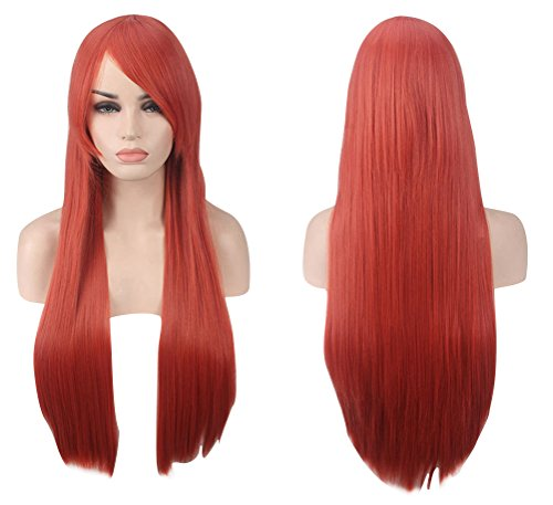 ACE SHOCK Cosplay Wig Women Long Straight, Synthetic Halloween Anime Costume Hairpiece 31.5