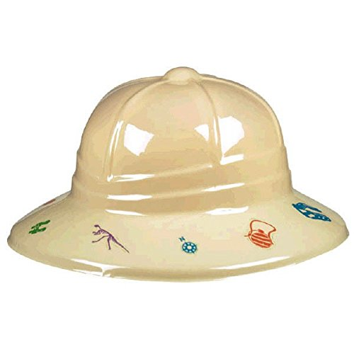 Awesome Prehistoric Dinosaurs Party Pith Helmet, Multi (Red Dinosaur Costume)