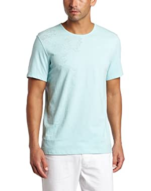 Calvin Klein Men's Short Sleeve Crew Neck Burnout Graphic Tee