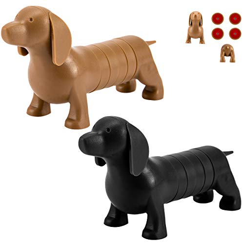 - Cosweet 2 Packs Innovative Dachshund Dog Refrigerator Magnets, Detachable Whiteboard Cartoon Tip Postcard Photo Picture Message Fridge Magnetic Stickers