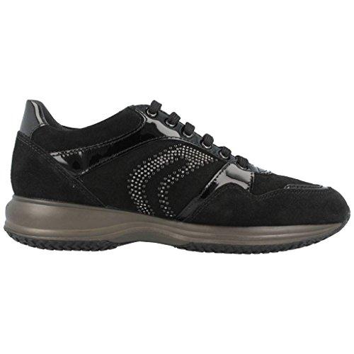 Calzado deportivo para mujer, color Negro , marca GEOX, modelo Calzado Deportivo Para Mujer GEOX D HAPPY B SCAM Negro Negro